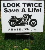 """Look Twice, Save a Life"" Yard Sign"