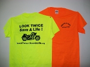"""Look Twice-Save A Life"" T-Shirt"